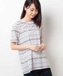 CARA O CRUZ/マリンプリントTシャツ/10255546N