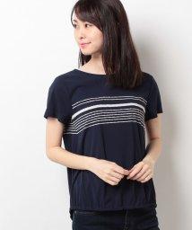CARA O CRUZ/手書き風ボーダー柄Tシャツ/10255553N