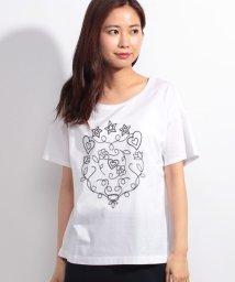 Leilian/コットン刺繍Tシャツ  /10255570N