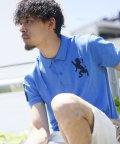 GIORDANOM/3Dライオン刺繍ポロシャツ/500355512