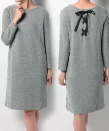 Doux archives /【OP限定価格】バックリボンブークレワンピース(P)/500372538