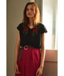 PROPORTION BODY DRESSING/《BLANCHIC》カラーエンブロイダリーTシャツ/500381957