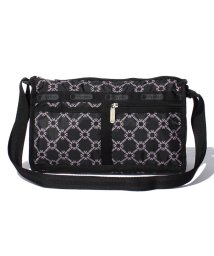 LeSportsac/DELUXE SHOULDER SATCHEL モノグラムピンク/LS0018643