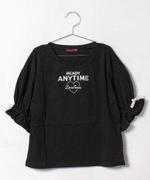 Lovetoxic/【ニコラ掲載】キャンディスリーブロゴ刺しゅう入りTシャツ/500378340