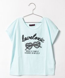 Lovetoxic/サングラスアップリケつきスリット袖Tシャツ/500378342
