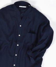SHIPS MEN/SC: COOLMAX(R) リネン スキッパー バンドカラー シャツ 7スリーブ/500386680