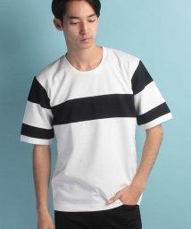 JUNRed/パネルラインTシャツ/500385712