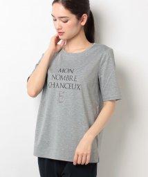 Leilian/ロゴプリントTシャツ  /10255826N