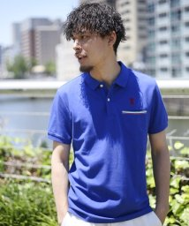GIORDANOM/ラインポケットライオンポロシャツ/500355513