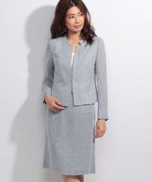 Leilian/【特別提供品】綿麻シンプルスーツ/500373767