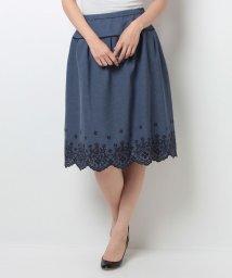 Leilian/【特別提供品】スカラップ刺繍フレアスカート/500373784