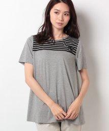 Leilian/【特別提供品】マリンモチーフボーダー切替Tシャツ/500373774
