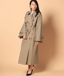 beautiful people/chambray oxkimono trench coat/500350086