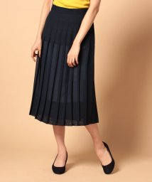 beautiful people/wool voilelayer pleats skirt/500350093