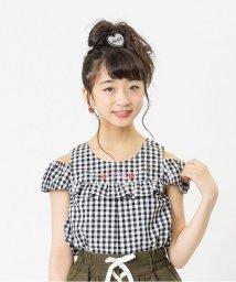 ALGY/フラワー刺繍肩あきブラウス/500395793