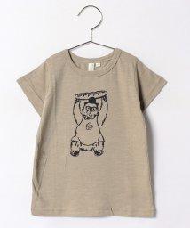 LAGOM/くまプリントスラブTシャツ/500394077