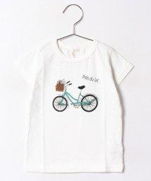 LAGOM/自転車プリントスラブTシャツ/500394079