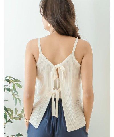 12Gアクリル綿タッチリブ編みキャミソール