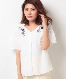 Rirandture/オータムカラー袖フレア刺繍ブラウス/500398572