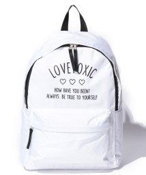 Lovetoxic/ロゴ入りラウンドリュック/500398723