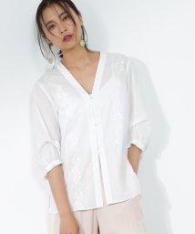 ROPE' mademoiselle/エンブロイダリーレースシャツ/500404715