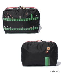 LeSportsac/EXTRA LARGE RECTANGULAR COSMETIC ワープパイプストライプ/LS0018702