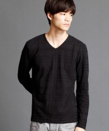 NICOLE CLUB FOR MEN/チェック柄Vネックカットソー/500396586