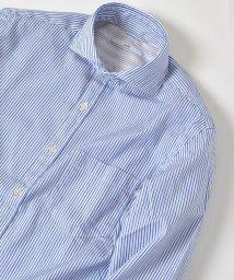 SHIPS MEN/SC: 17FW ドビー織り ロンドンストライプ セミワイドカラー シャツ/500407651