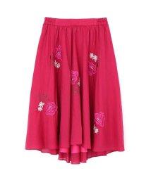 PROPORTION BODY DRESSING/ビッグフラワー刺繍スカート/500407792