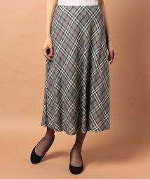Leilian/【セットアップ対応】ブリティッシュチェックフレアスカート/500404225