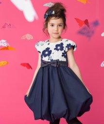 KUMIKYOKU KIDS/【TODDLER】グラデーションフワラー刺繍 ドレス/500410300
