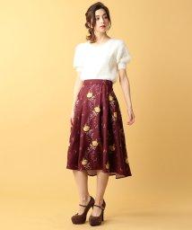 MIIA/バラ刺繍イレギュラーヘムスカート/500410185