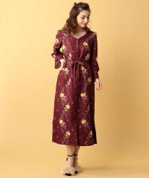 MIIA/バラ刺繍マキシワンピース/500410191