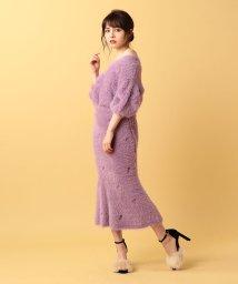 MIIA/【セットアップ対応商品】フェザーヤーンエンブロイダリースカート/500410193