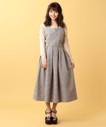 MIIA/【セットアップ対応商品】チェック柄タックフレアスカート/500410198