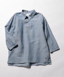 NOLLEY'S goodman/綿麻スキッパー七分袖シャツ/500399941
