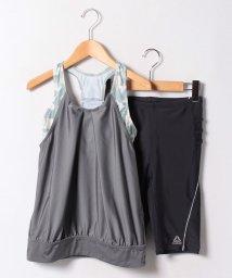 VacaSta Swimwear/【REEBOK】幾何学柄切替タンキニ/500407109