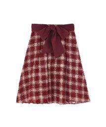 PROPORTION BODY DRESSING/チェックオパールフレアースカート/500412066