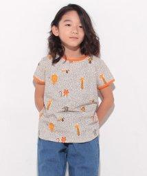 LAGOM/ジャングル総柄Tシャツ/500406989