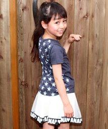 ANAP KIDS/かすれプリント星柄ポッケ Tシャツ/500411288
