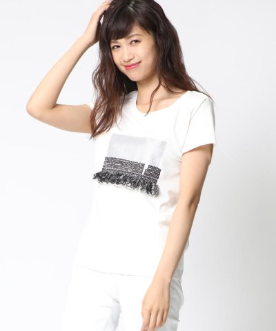 【VICKY(ビッキー)】グリッターフリンジモチーフTシャツ