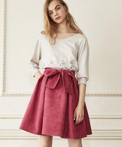 【Noela(ノエラ)】スエードリバーシブルスカート