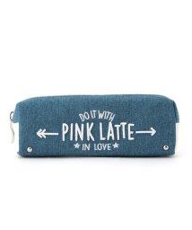 PINK-latte/ロゴ刺しゅう横長ポーチ/500418424