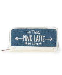 PINK-latte/ロゴ刺しゅう長財布/500418426