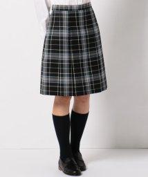 KUMIKYOKU KIDS/【PURETE】ウール綾チェック スカート (リボン付き)/500419087