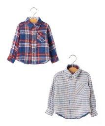 SHIPS KIDS/SHIPS KIDS:チェック リバーシブル シャツ(80~90cm)/500425515