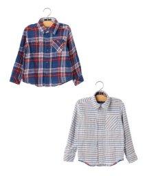SHIPS KIDS/SHIPS KIDS:チェック リバーシブル シャツ(100~130cm)/500425516