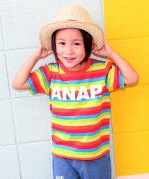ANAP KIDS/カラフルボーダーTシャツ/500416769