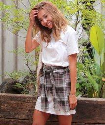 ANAP/チェック巻きスカート×Tシャツ SET UP/500418232