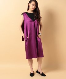 beautiful people/s/w satin sffold dress/500350089
